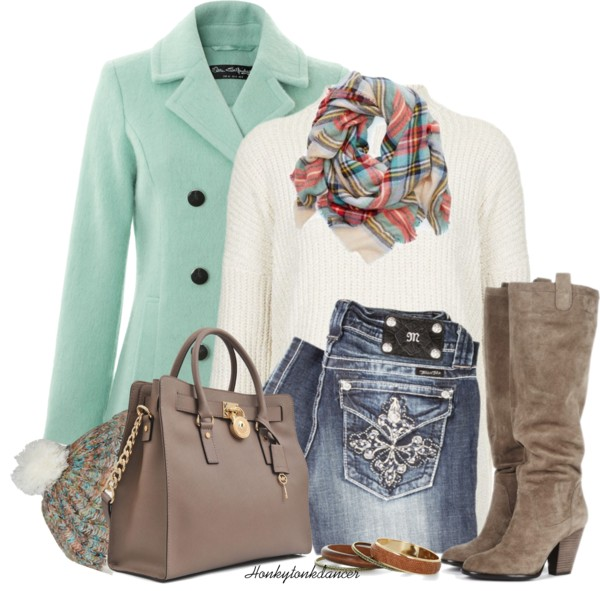 Mint Wool Coat Cute Fall Outfit outfitspedia