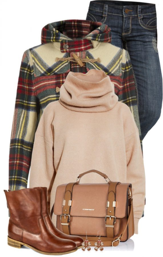 Mix Knit Sweater Fall Outfit outfitspedia