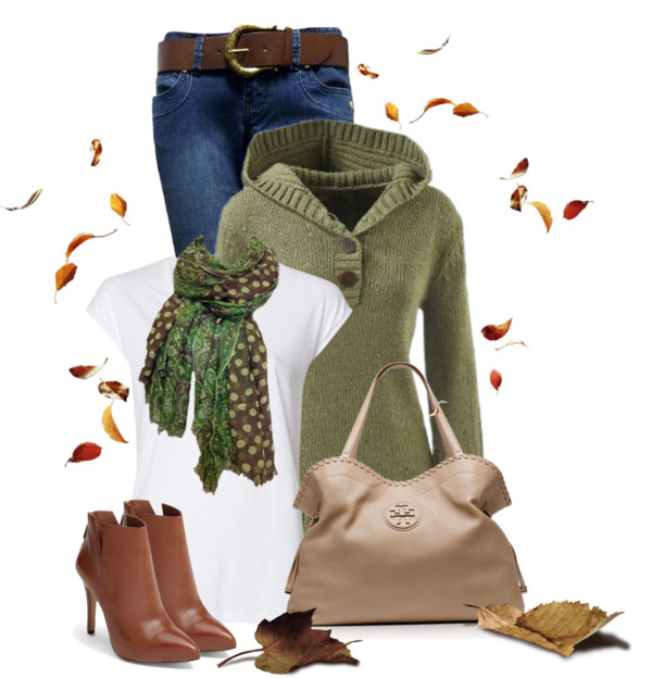 Olive Green Hoodie Sweater Fall Outfit outfitspedia