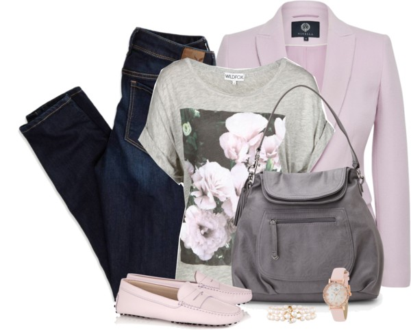 Pink Loafers Casual Spring Outfit outfitspedia