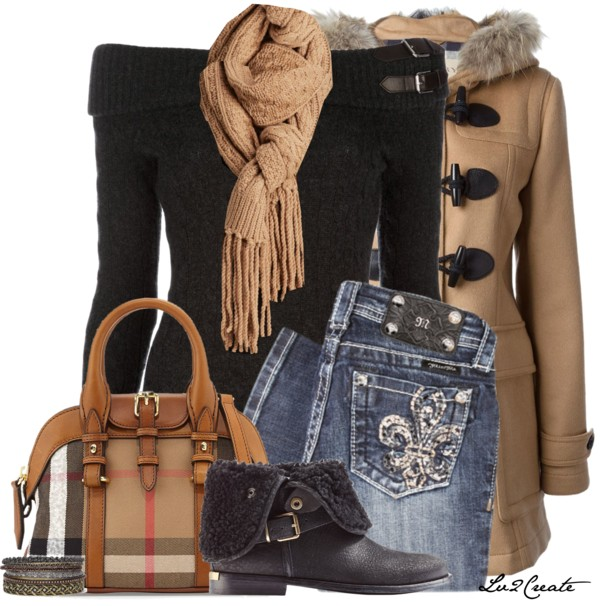 Shawl Collar Jumper Winter Outfit outfitspedia