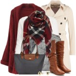Sheer Trenchcoat Cozy Fall Winter Outfit