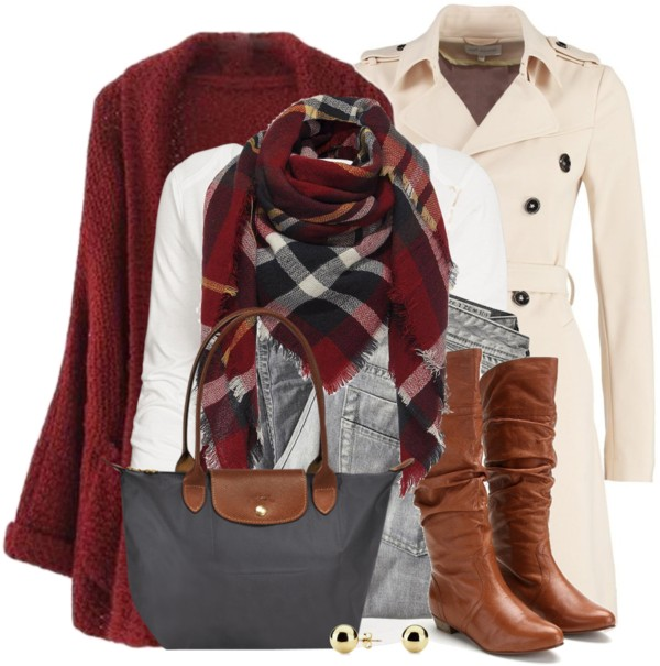 Sheer Trenchcoat Cozy Fall Winter Outfit outfitspedia