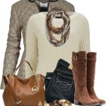 Shimmer Quilted Jacket Fall Winter Outfit