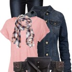 Simple T Shirt With Denim Jacket Fall Outfit