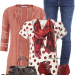 Stitch Hooded Cardigan Casual Spring Outfit