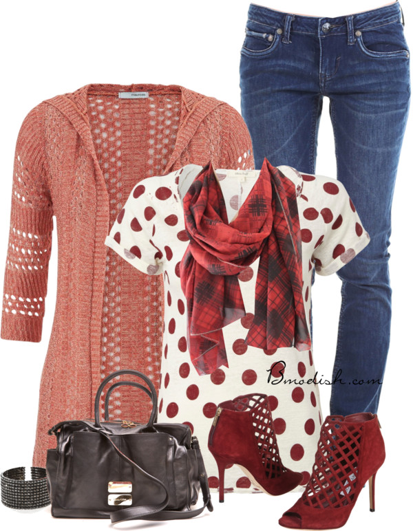 Stitch Hooded Cardigan Casual Spring Outfit outfitspedia