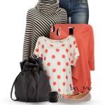 Stripe Fringe Poncho Stylish Fall Outfit