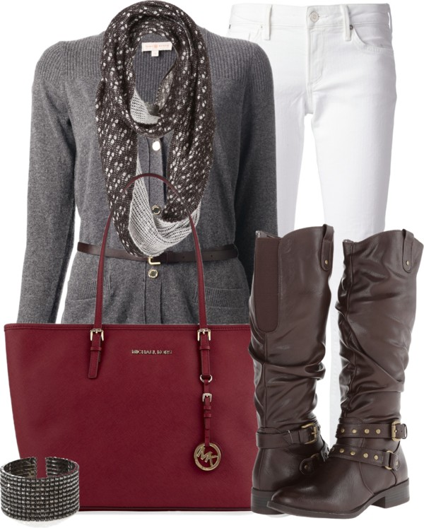 Stylish Belted Cardigan Fall Outfit outfitspedia