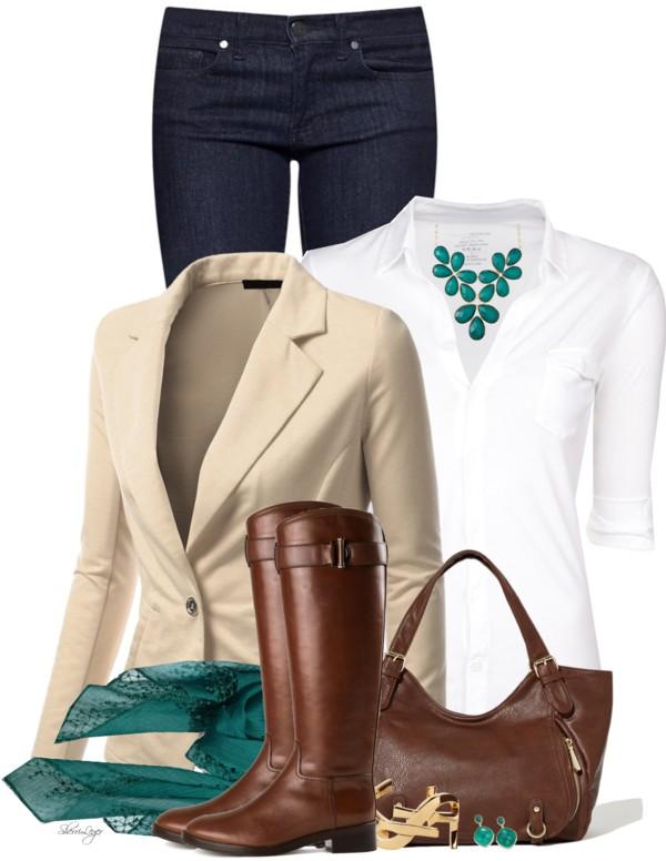 Stylish Boyfriend Blazer Casual Outfit outfitspedia