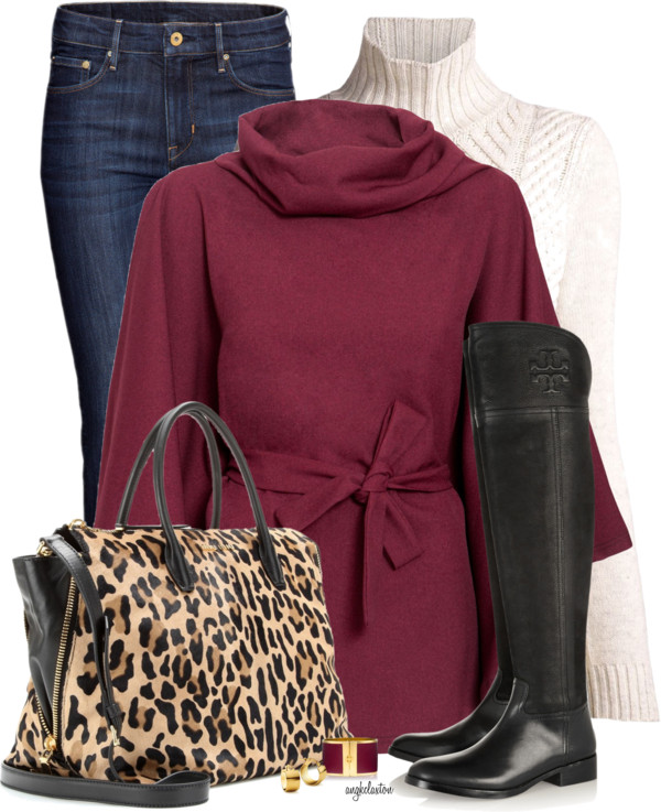 Stylish Cape Coat With Boots Fall Outfit outfitspedia