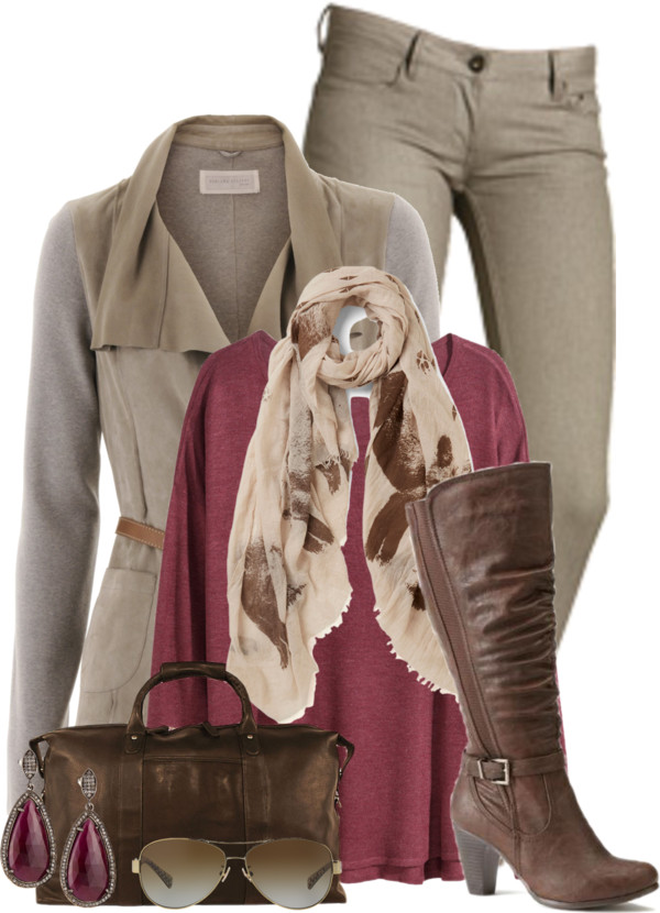 Stylish Pearl Grey Skinny Jeans Fall Outfit outfitspedia