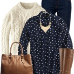 Ticktock Print Blouse Casual Fall Outfit