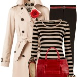 Trench Coat With Striped Shirt Fall Outfit