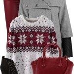 Wine Red Skinny Jeans Winter Outfit