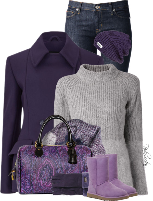 'Winter Purple' Cozy Winter Outfit outfitspedia