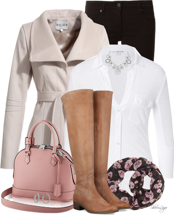 Wrap Collar Jacket Lovely Fall Outfit outfitspedia