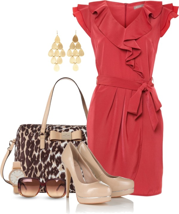 Wrap Front Dress Classy Outfit outfitspedia