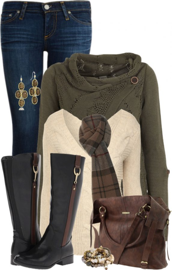 X Knit Cardigan Comfy Fall Outfit outfitspedia