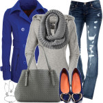 Zip Pocket Peacoat Casual Fall Outfit