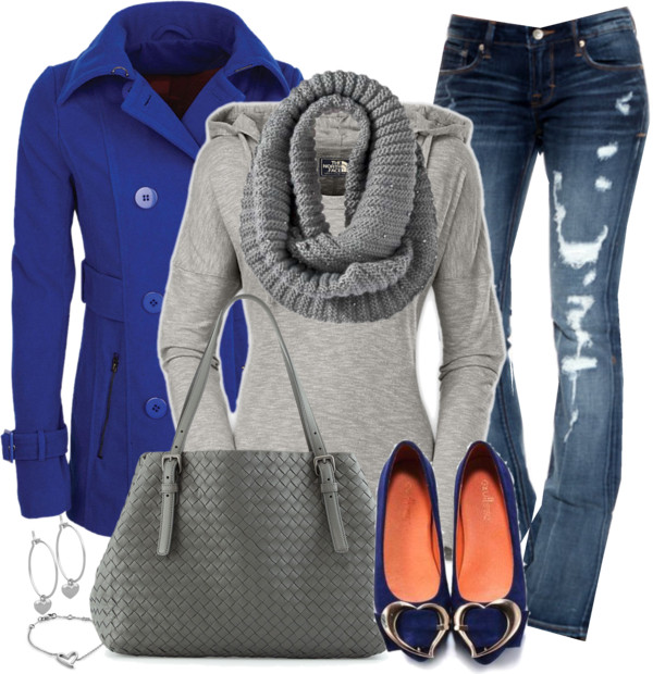 Zip Pocket Peacoat Casual Fall Outfit outfitspedia