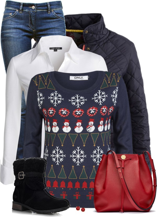christmas sweater everyday winter outfit outfitspedia