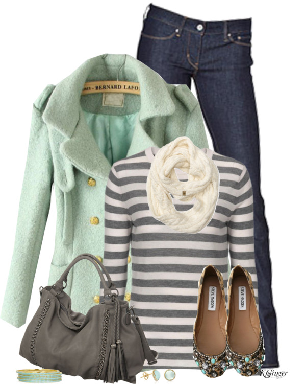 A Minty Gray Day Fall Outfit outfitspedia