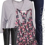 Abercrombie Floral Tank Casual Outfit