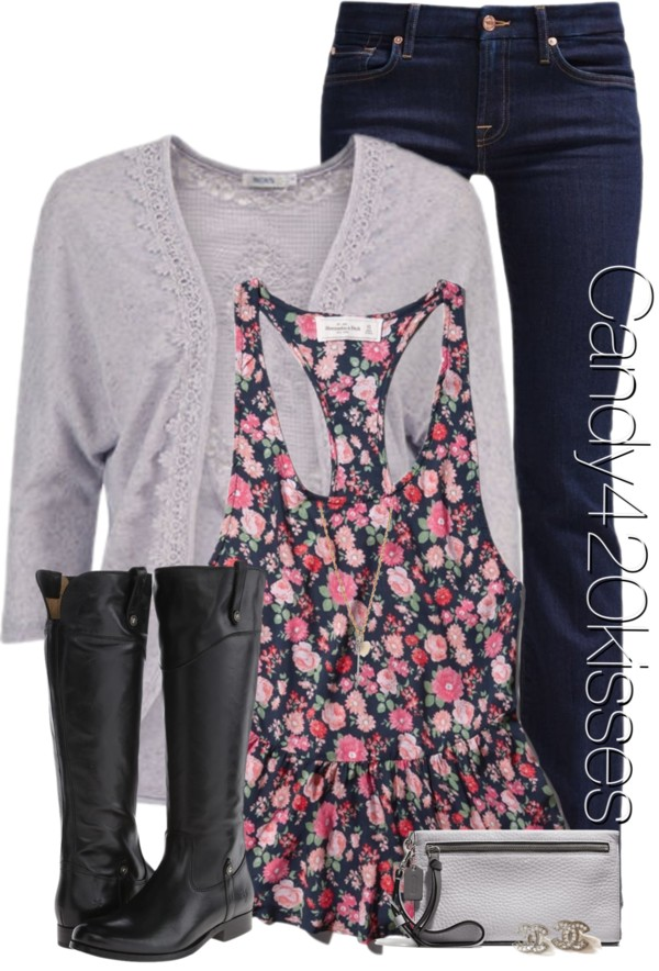 Abercrombie Floral Tank Casual Outfit outfitspedia
