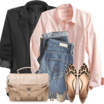 Casual Pink Boyfriend Shirt Outfit