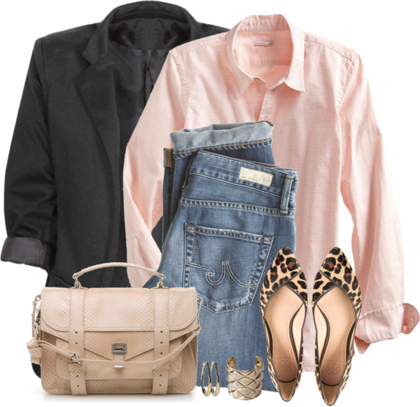 Casual Pink Boyfriend Shirt Outfit outfitspedia