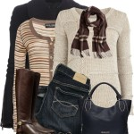 Knit Sweater With Cardigan Warm Winter Layer Outfit