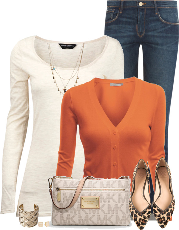 Leopard Flat Shoes Spring Outfit outfitspedia