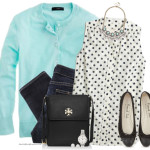 Lovely Mint and Dots Casual Spring Outfit