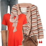 Mango Multicolor Cardigan Casual Outfit