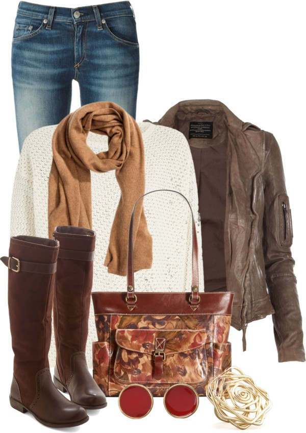 Marsden Leather Jacket Casual Fall Outfit outfitspedia
