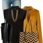 Mustard Blazer Classy Fall Outfit