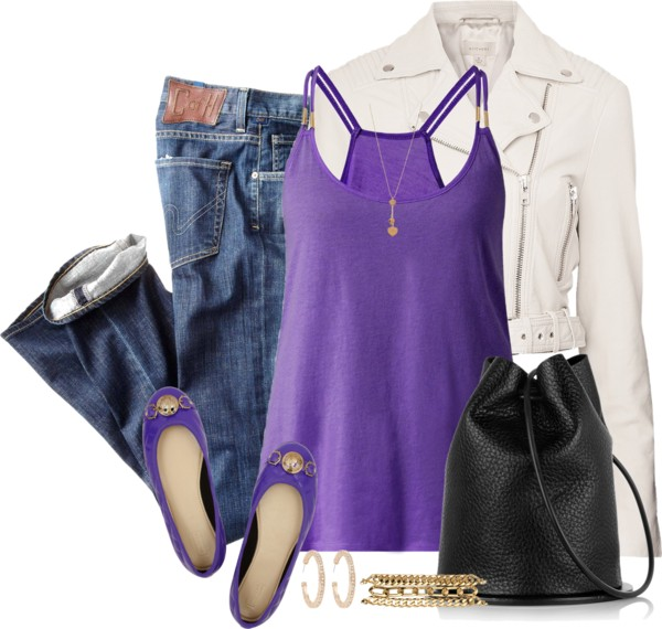Quilted Ballet Flat Spring Outfit outfitspedia