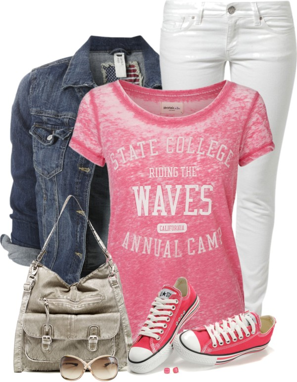 'Riding the Waves' Casual Spring Outfit outfitspedia