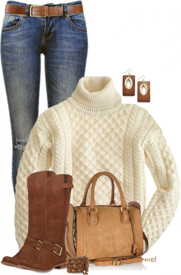 Simple Fall Outfit With Timberland Tall Boots outfitspedia