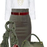 Stylish High Waisted Pencil Skirt Work Wear