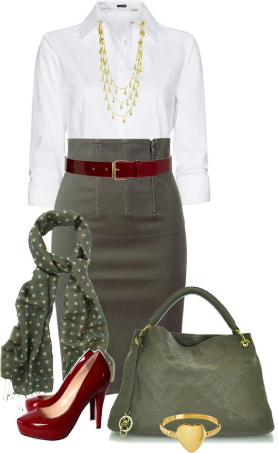 Stylish High Waisted Pencil Skirt Work Wear outfitspedia