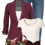 Vera Bradley Floral Bag Casual Outfit
