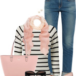 Black and White Striped Jumper Casual Spring Outfit