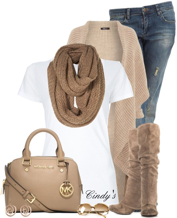 Casual Chunky Ribbed Long Cardigan Fall Outfit outfitspedia