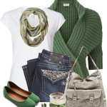Casual Green Flats St. Patrick Day Outfit