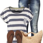 Casual Nautical T Shirt Summer Outfit