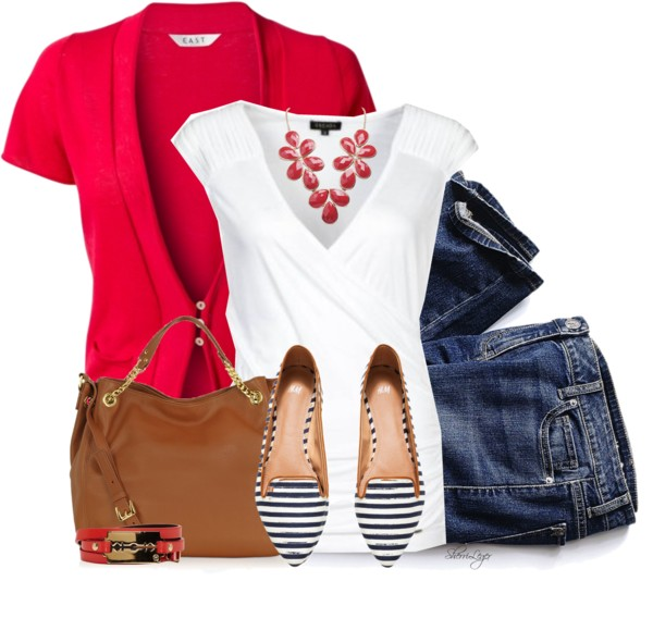 Cute Striped Flats Spring Outfit outfitspedia