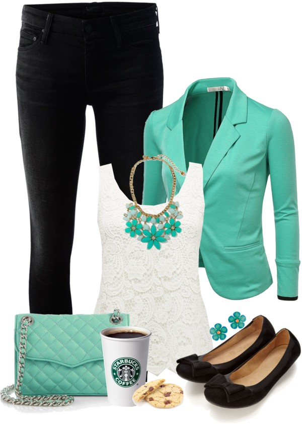 Minty Sweet Spring Outfit outfitspedia