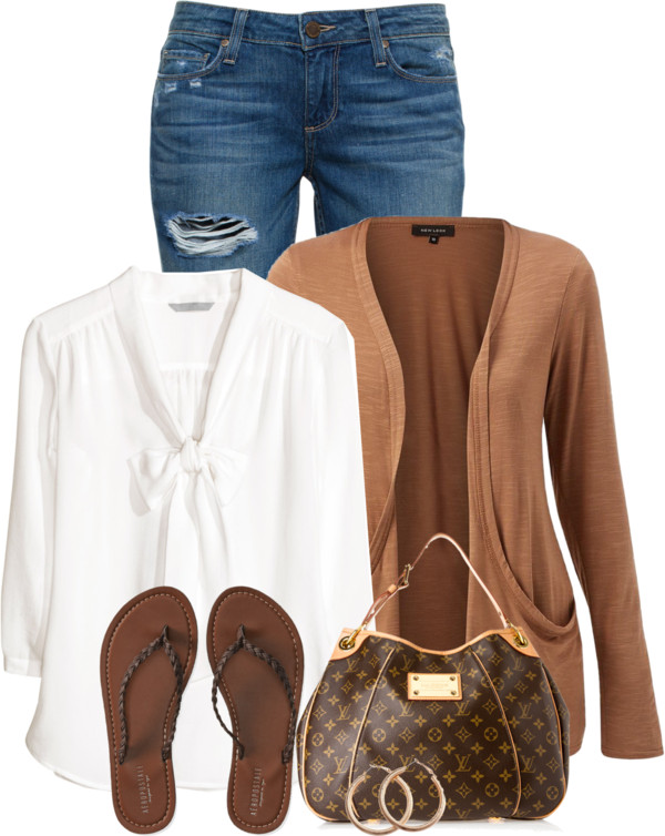 Simple Cute Pussybow Blouse Spring Outfit outfitspedia